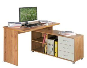 שולחן מחשב פינתי עם מגירות דגם אבנר