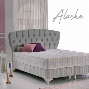 מיטה זוגית מרופדת דגם ALASKA הכוללת ארגז מצעים מבית BAZARONE