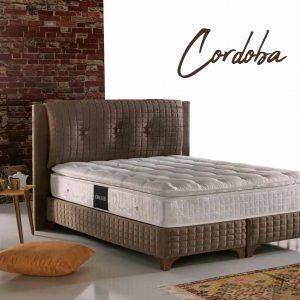 מיטה זוגית מרופדת דגם  CORDOBA הכוללת ארגז מצעים מבית BAZARONE