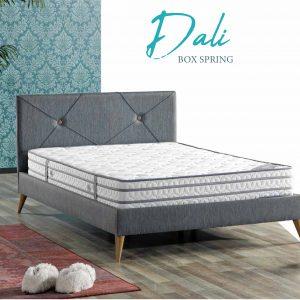 מיטה זוגית מרופדת דגם  DALI הכוללת ארגז מצעים מבית BAZARONE