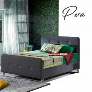 מיטה זוגית מרופדת דגם  PERA הכוללת ארגז מצעים מבית BAZARONE