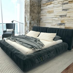 מיטה מרופדת דגם מוניקה מבית BazarOne