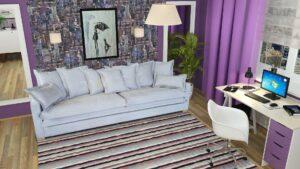 ספה דגם גידאון מעוצבת בהתאמה אישית מבית BazarOne