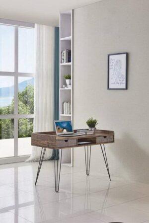 שולחן מחשב רגל מתכת דגם מרקיז