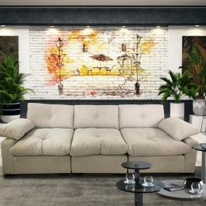 ספה תלת דגם פוף מבית BazarOne
