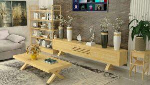 סט שולחן + מזנון לסלון דגם V