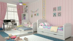 מיטת ילדים כולל מיטת חבר דגם Princess