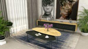 סט שולחן + מזנון לסלון XV