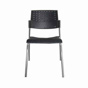 כסא אירוח ללא ידיות שחור