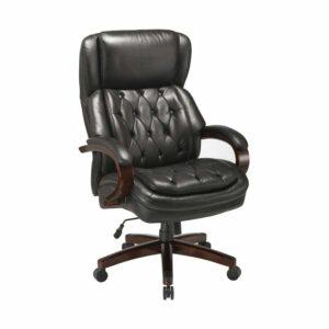 כסא מנהלים מפואר צבע שחור, עור רך ונעים
