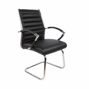 כסא אורחים משרדי מעוצב ומרופד בדמוי עור רך